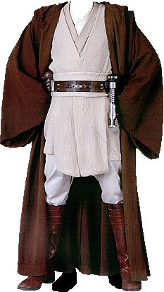 Obi-Wan Kenobi's Jedi costume. I should so do this for the Star Wars night thunder hockey game that I am going to.