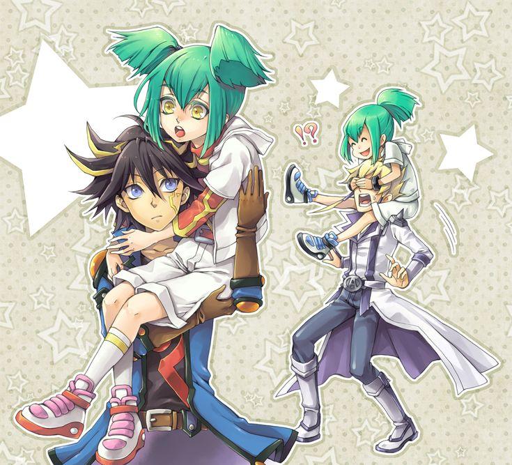 yu-gi-oh  5ds  yusei fudo  ruka  jack atlas  ruaYugioh 5ds Yusei And Jack