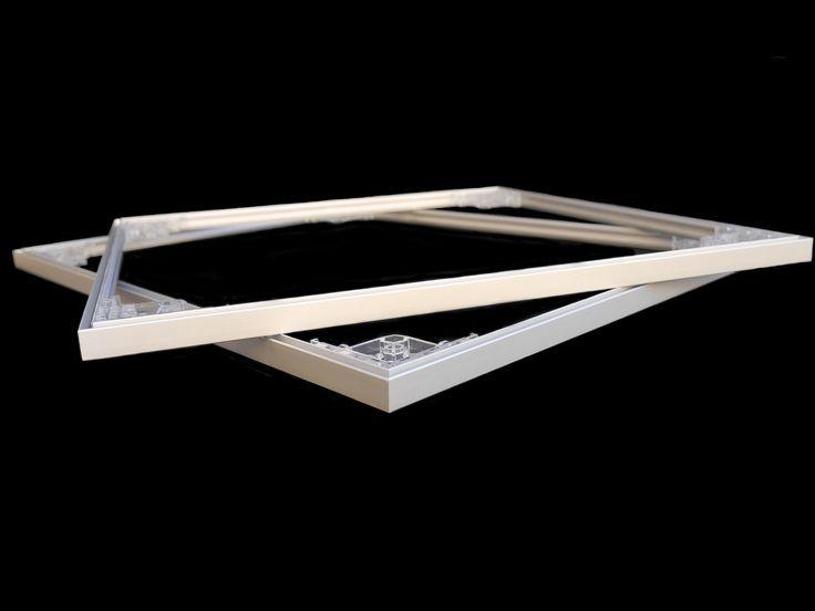 Cadres en aluminium assemblé facilement grâce aux équerres coulissantes