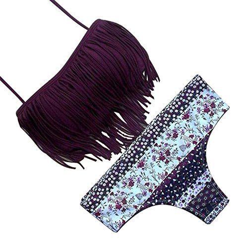 SUNNOW® Hot Nouveau Bikini Tassel Fringe Set Maillot de bain rembourré Trikini – 2 pièces Expédié par Amazon: Caractéristiques: Marque:…