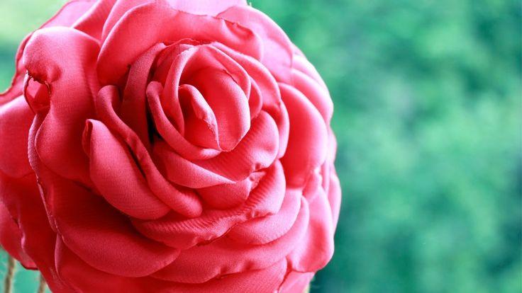Роза из Шифона своими руками /  Rose from a fabric
