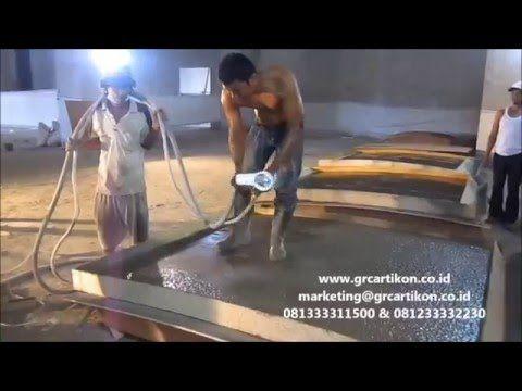 Pabrikasi GRC panel dengan teknik spray ⋆ GRC Artikon Indonesia