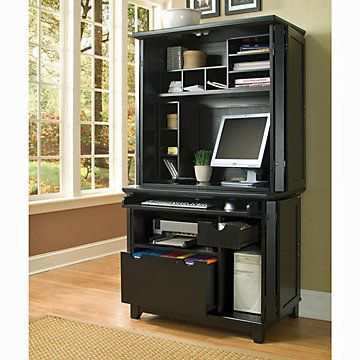 Beau Home Styles Arts And Crafts Compact Office Armoire Desk And Hutch