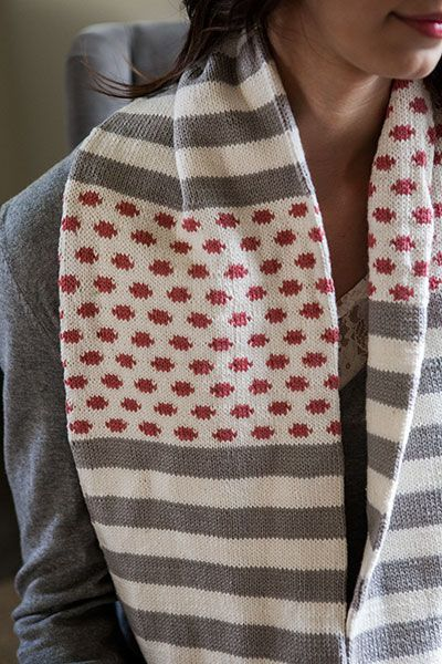 Polka Dot Stripes Cowl - Knitting Patterns and Crochet Patterns from KnitPicks.com by Edited by Knit Picks Staff