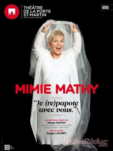 Mimie Mathy dans Je re-papote avec vous - Théâtre de la Porte Saint Martin   BilletReduc.com