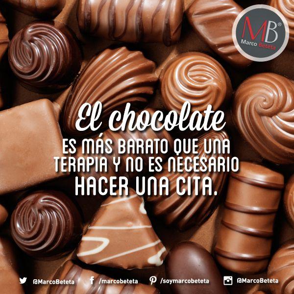 Frase de chocolate.