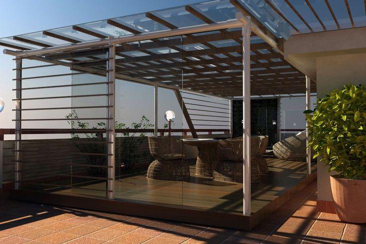 Gazebo Design Legno-acciao-vetro - Picture gallery