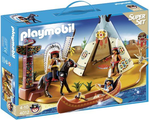 Playmobil 4012 Western Native American Camp Superset: Amazon.co.uk: Toys & Games