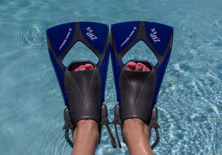 Aqua Sphere Zip VX Fitness Fins to help sculpt and strengthen your sexy legs :) Also great if you are suffering from any kind of injury to the knee as kicking with these babies will allow the muscles and ligaments to strengthen and heal without risk of further injury. http://www.diversdirect.com/scuba-diving/aquasphere-zip-swim-fin/