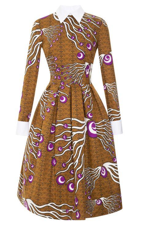 Dericia Printed Full Skirt Dress by Stella Jean Now Available on Moda Operandi