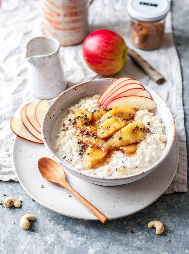 Porridge mit braunem Reis & karamellisierten Zimtbananen
