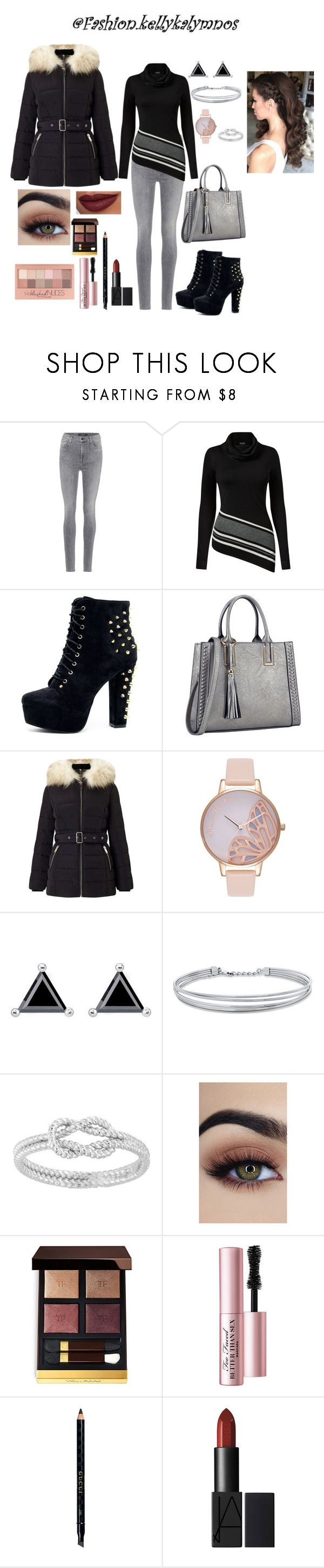 """""""Get ready with me: Coffee outlet"""" by kellykalymnoskd on Polyvore featuring J Brand, Venus, Dasein, Miss Selfridge, Olivia Burton, Thomas Sabo, BERRICLE, Maybelline, Tom Ford and Too Faced Cosmetics"""