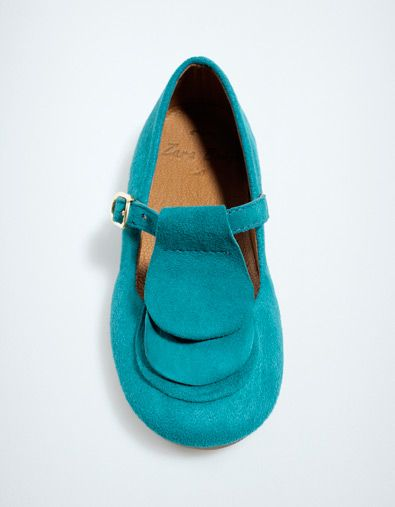 leather ballerina with petals - Shoes - Baby girl (3-36 months) - Kids - ZARA United States