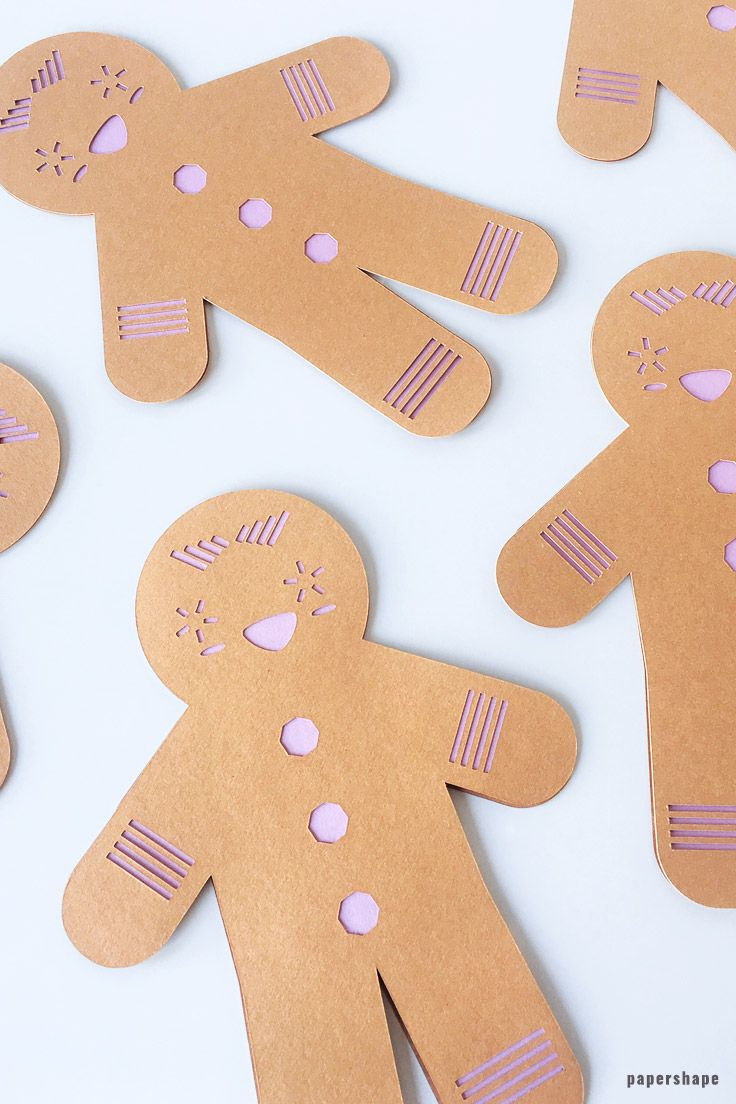 Basteln Mit Papier Anleitung Lovely Ginger Bread Man From Paper With Template Crafts