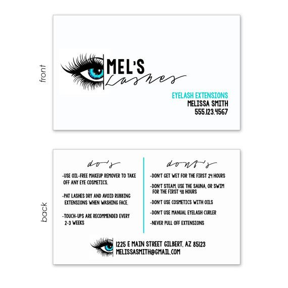 Customized Business Card for Eyelash Extensions. by Apartment243