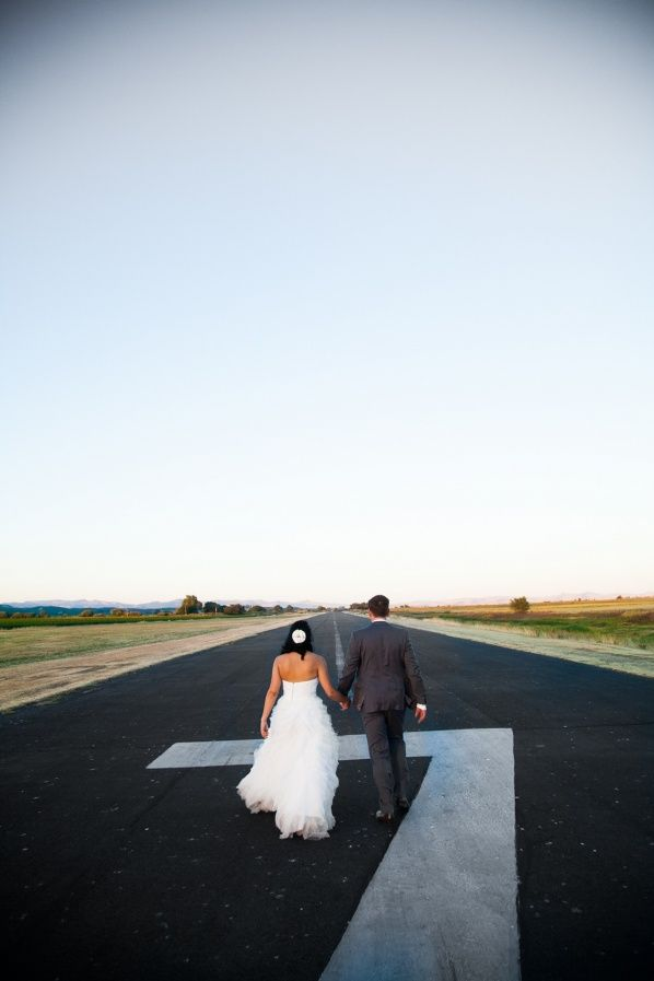 Rustic Sonoma Airplane Airport Wedding