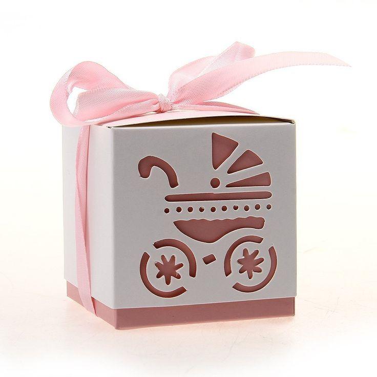 Sød lyserød gaveæske til bordpynt og gaver til din barnedåb og babyshower.
