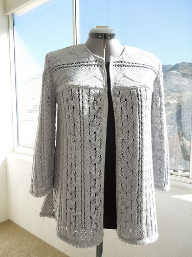 Ravelry: Lots 'o Lace Cardi pattern by Mary Anne Oger