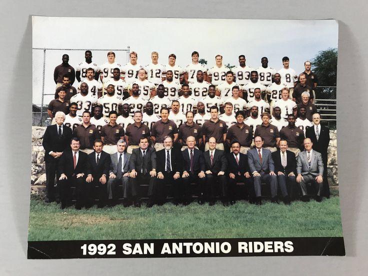 VINTAGE PANORAMIC PICTURE, 1992 San Antonio Riders picture, group picture, Football picture, football team picture, vintage football picture by TheJellyJar on Etsy