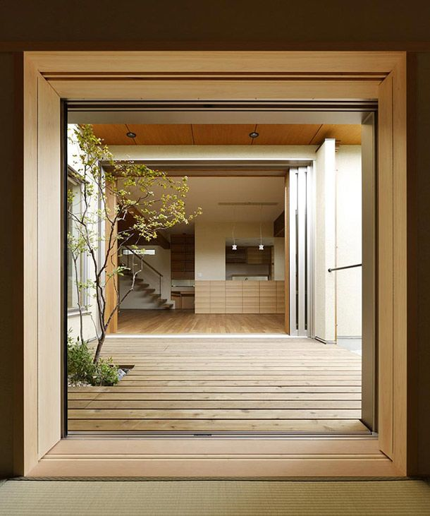 The general idea behind this pinboard is to find architecture that is simple, modern, and still tied to nature. Appropriately, here's a house by TSC Architects (actually in Hinomiya, Japan).