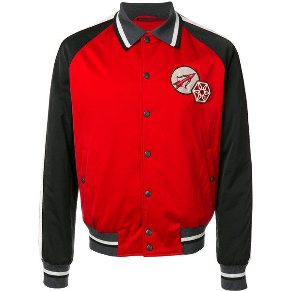 Lanvin embroidered bomber jacket ($1,048) ❤ liked on Polyvore featuring men's fashion, men's clothing, men's outerwear, men's jackets, red, men's embroidered bomber jacket, mens striped jacket, mens fur collar bomber jacket, mens red bomber jacket and mens collared jacket