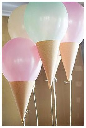 "Ice Cream Balloons - Tonya this would be perfect for ""candy land""!"