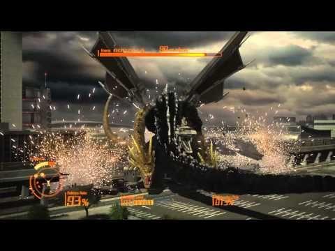 GODZILLA Ps4: Mecha King Ghidorah defend mode walkthrough part 2 - YouTube