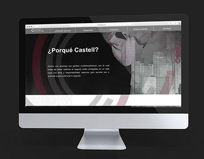 Diseño de sitio web para Castell con efecto parallax, fundamentado sobre estándares de usabilidad, adaptable y responsivo. Construido en HTML, CSS y JQUERY.