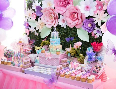 Floral theme birthday party
