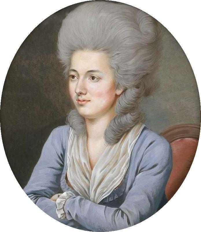 Portrait of Marie du Muralt, by William von Moll  Berczy (German/Canadian) . 18th century.