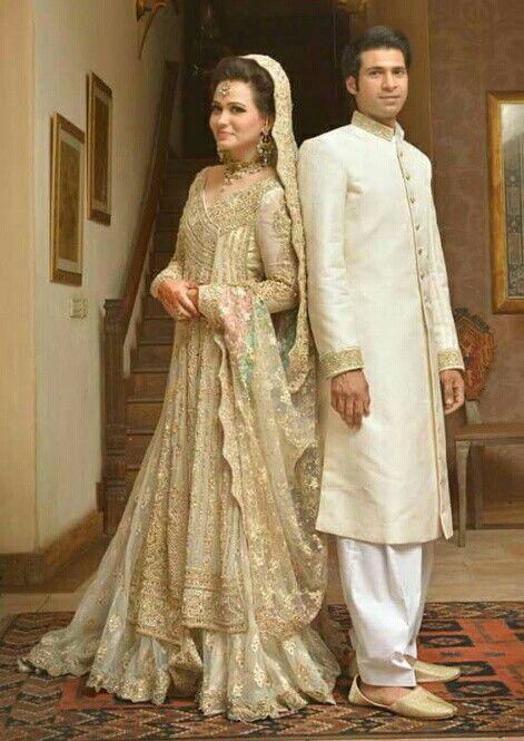 Pakistani wedding   white bridal shirt with sharara   great dress for walima or nikah