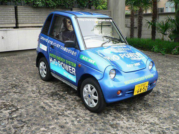 JAPANESE CAR RUNS ON WATER!  Tired of pumping expensive gasoline into your car? Well one Japanese company reveals an eco-friendly car that runs on water, using the company's generating system, which converts water into electrical power - possibly the world's first. . . .  A Japanese company called Genepax, dedicated to finding ways to turn water into power, has unveiled what it calls the first practical car to run solely on water.