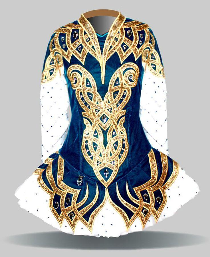 Elevation 2014 Irish Dance Solo Dress Costume. BEAUTIFUL!