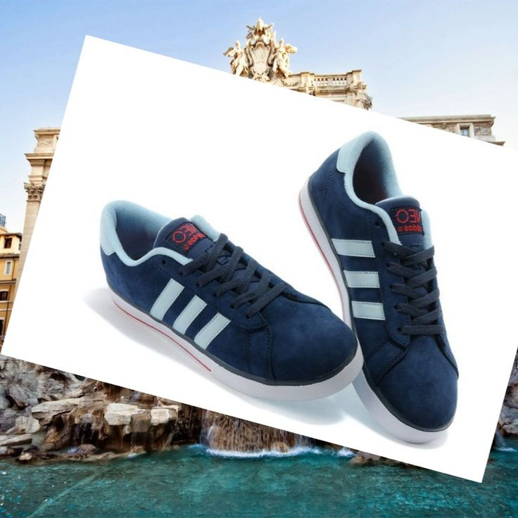 Adidas Originals Stile NEO Scarpe Da Uomo Blu Scuro/Rosso as you see,Modern trainers can bying to walk all over the world lightly.