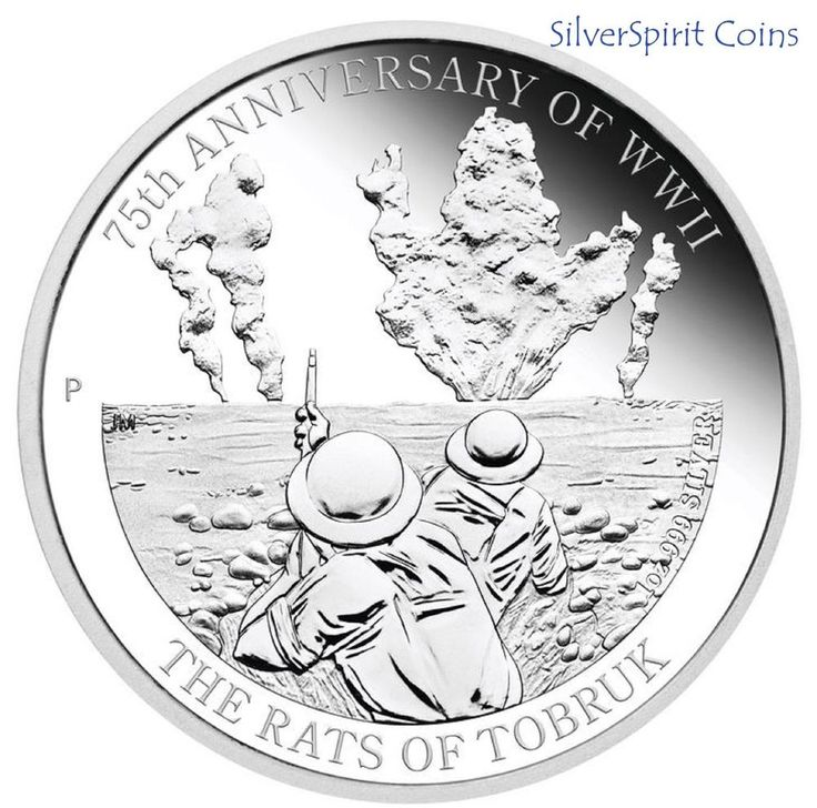 2016 RATS OF TOBRUK 75th ANNIVERSARY 1oz Silver Proof Coin
