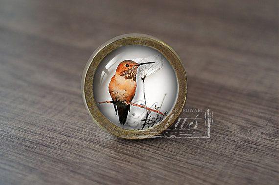Hummingbird—Handmade Vintage Antique Drawer Knobs Pulls Handles/Dresser Knobs Cabinet Pull handles / Furniture Hardware