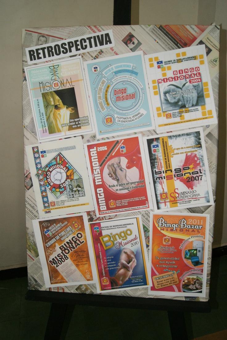 Retrospectiva afiches Bingo Misional SSPC