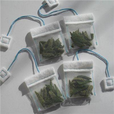 Extra detailed felt tea bags.