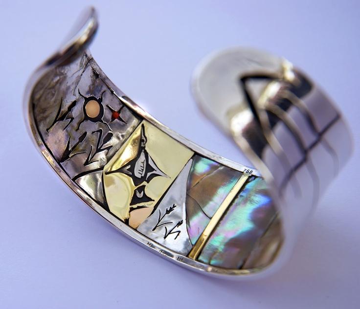 Inlay lining inside Manoomin bracelet