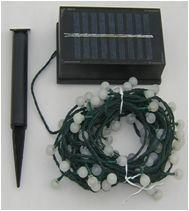 Kerstlampjes op zonne energie met accu en zonne paneel