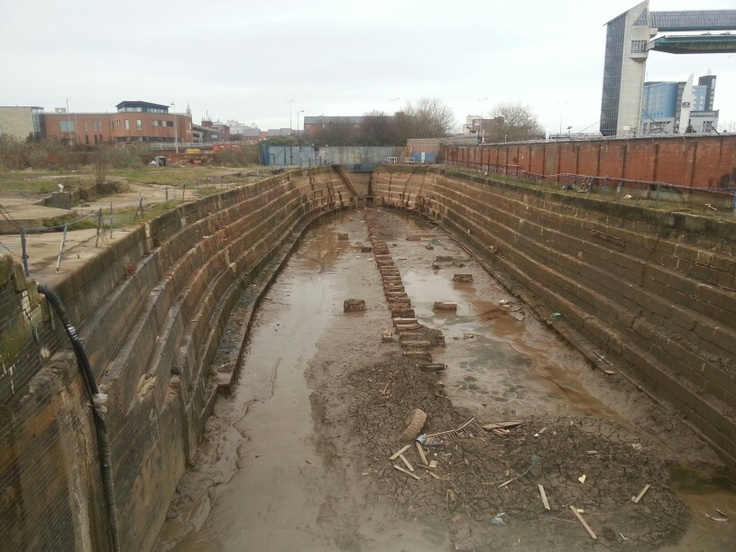 Dry dock, Queen Street, Hull