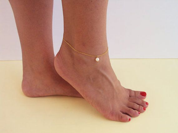 Gift for Girlfriend Gold Anklet Dainty Anklet by VasiaAccessories