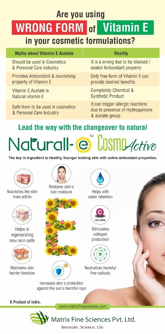 Naturall E Cosmoactive Which Is Natural Vitamin E For Cosmetic Applications It Has Active Antioxidant Property An Natural Vitamin E In Cosmetics Antioxidants