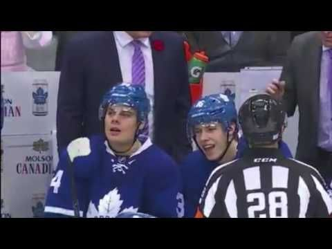 Auston Matthews & Mitch Marner Singing Bon Jovi Between Whistles | NHL B...