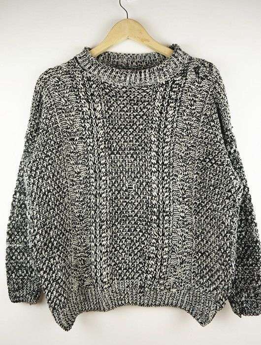 Cabled Sweater in Gray