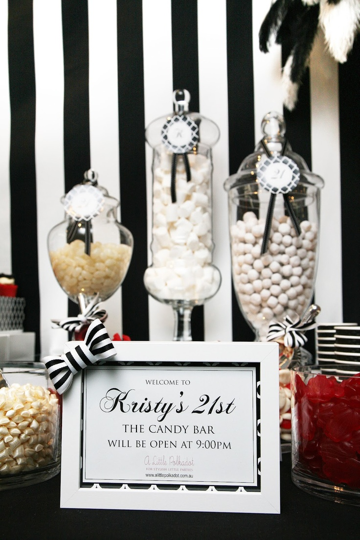 20 best Candy Buffet - Black Candy images on Pinterest | Wedding ...