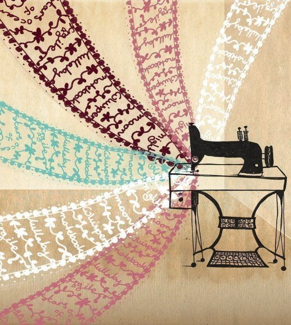 Windmills of poems and lace  Art Print by LilyMoon on Etsy, $18.00