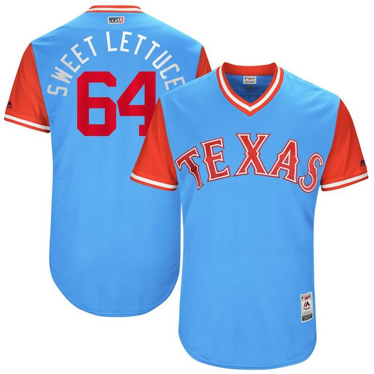 "AJ Griffin ""Sweet Lettuce"" Texas Rangers Majestic 2017 Players Weekend Authentic Jersey - Light Blue"