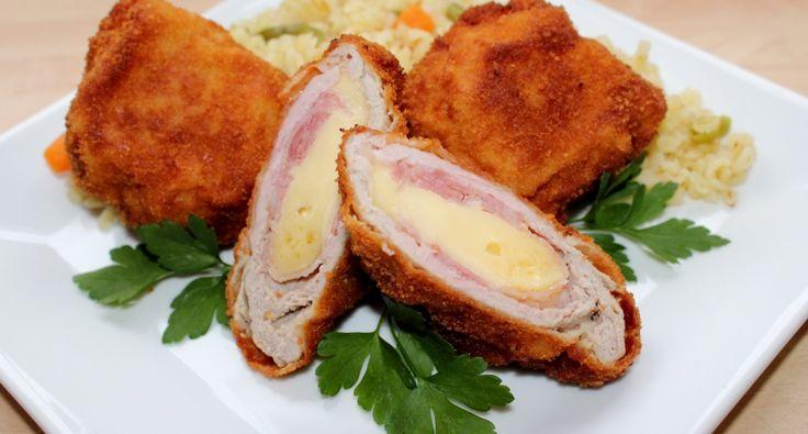 Sajttal-baconnal töltött szűzérme recept: Nálunk a sajttal-baconnal töltött szűzérme igazi ünnepi fogás. Fejedelmi étel, mégis pillanatok alatt elkészíthető. :)
