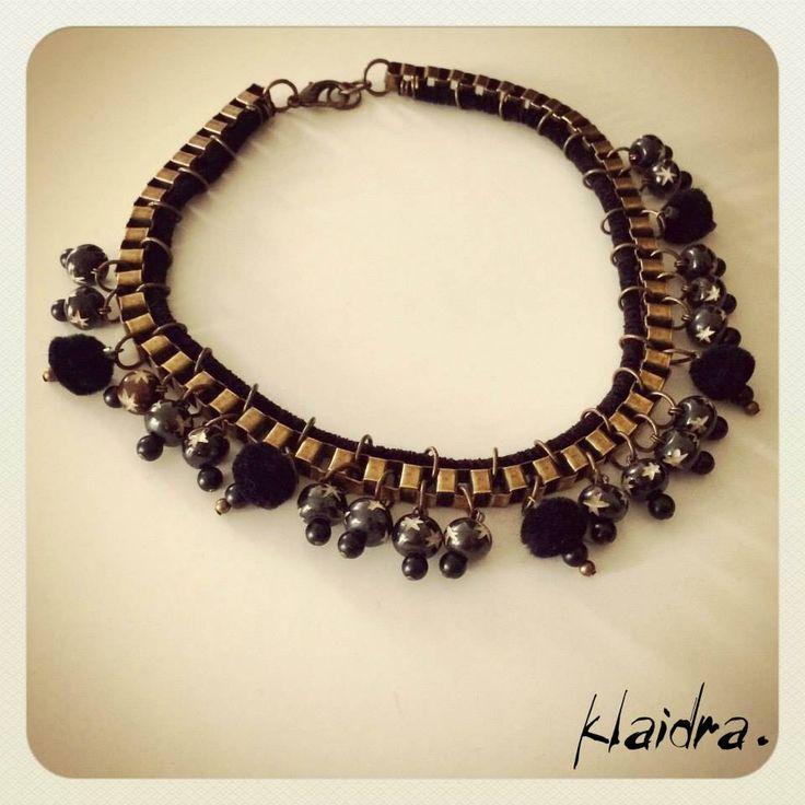 *stardust japanese* pom pom necklace✨ #klaidra #fw15 #newdesigns #designers #jewelry #handmade #bohemian #ethnic #gypsy #fashion #greekdesigners #klaidrajewelry #pompom #beaded #necklace #japanese #instastyle #instafashion #boho